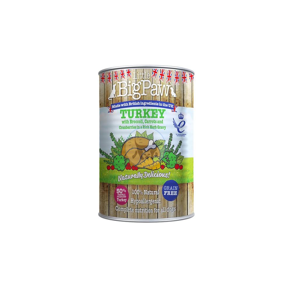بيج باو - طعام رطب للكلاب مع الديك الرومي 390 جم