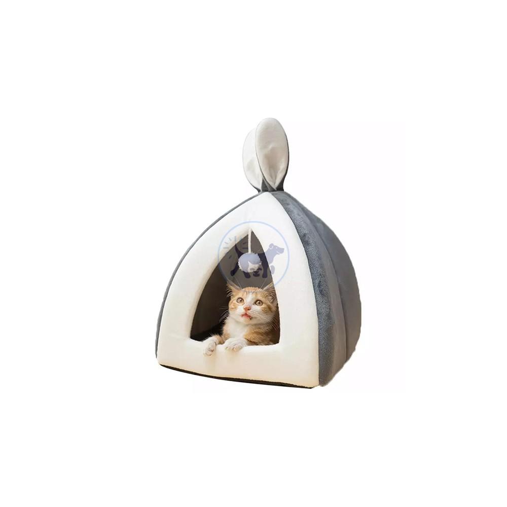 بيت قطط على شكل كوخ قابل للطي