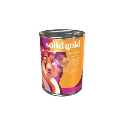 سوليد جولد - طعام رطب للكلاب من جميع الأعمار مع الدجاج والأرز البني 374جم