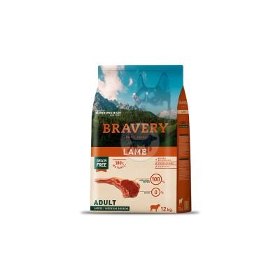 برافيري طعام جاف للكلاب البالغة خالي من الحبوب مع لحم الضأن