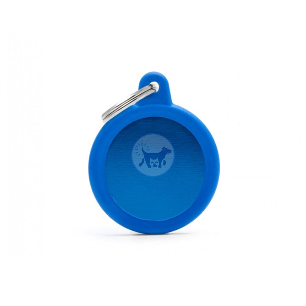 ماي فاميلي قلادة دائرية مع المطاط الأزرق