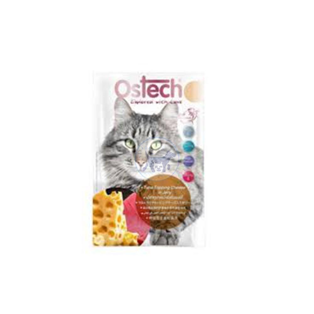 كرتون اوستك الترا - طعام قطط رطب مع التونة والجبن بالهلام 12 × 70 جم