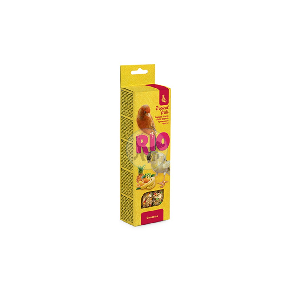 ريو - مكافأة العصي مع الفاكهة الإستوائية للكناري 2× 40 جم