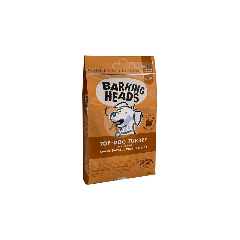 باركنج هيدز طعام جاف للكلاب البالغة مع الديك الرومي 12 كجم
