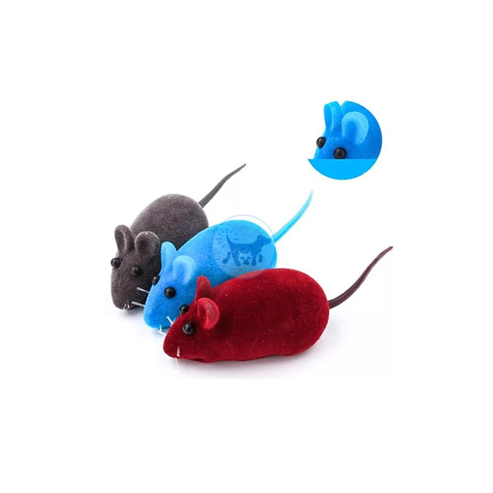 لعبة قطط - شكل فأر لينة مع صوت × 3