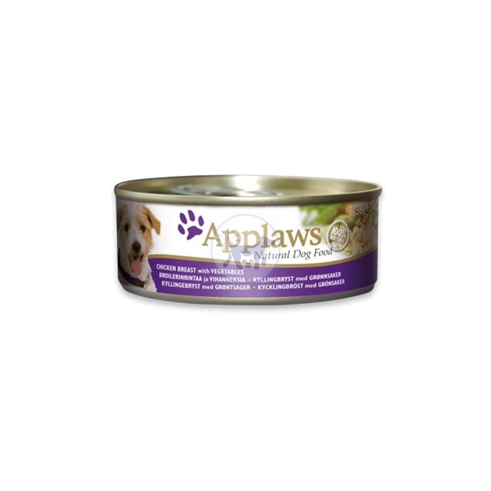 أبلاوز طعام كلاب رطب مع صدر دجاج و الخضراوات بالمرق 156 جم
