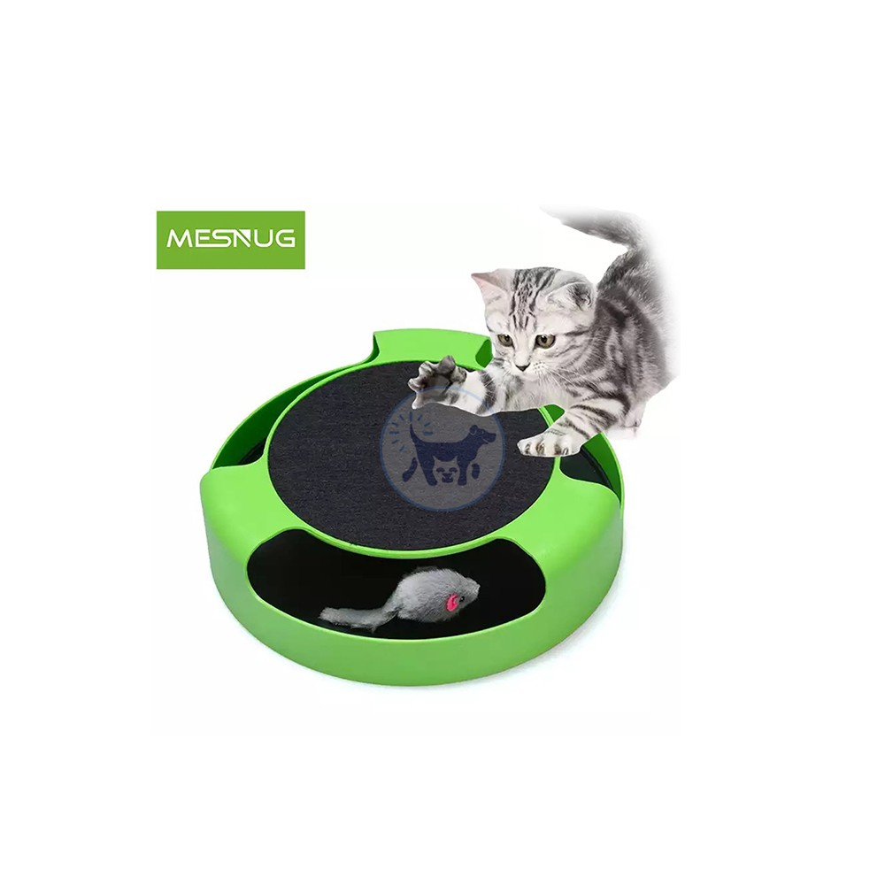 لعبة قطط تفاعلية مع حصيرة للخدش