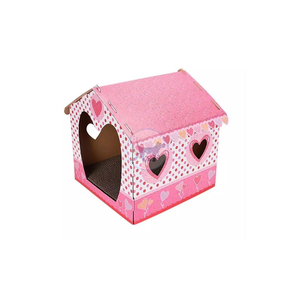 بيت قطط من الورق المموج مع لوح خدش داخلية