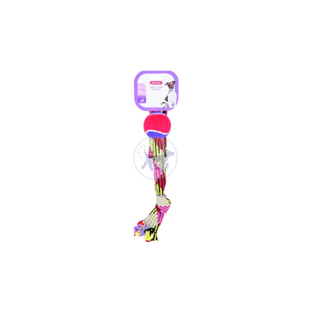 زولكس لعبة كلاب كرة تنس 36 سم مع حبل