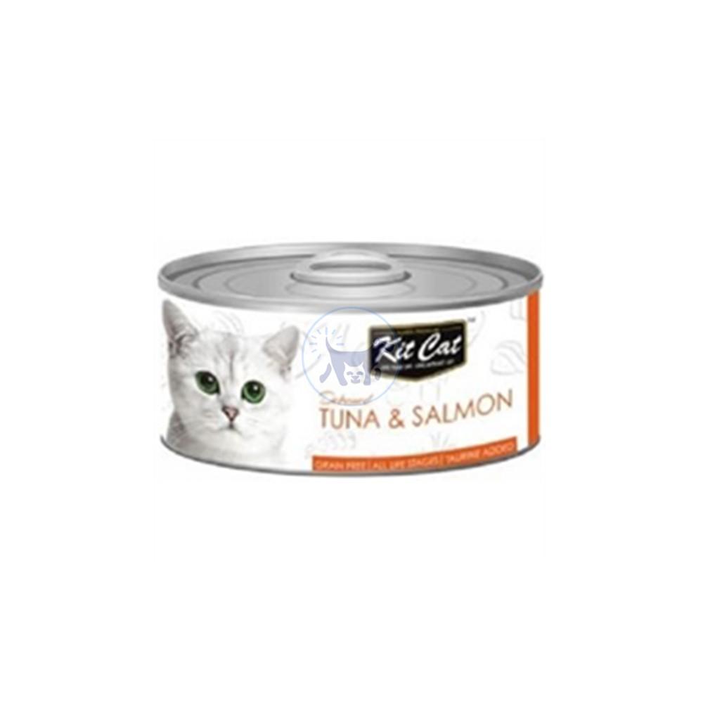 كت كات طعام قطط رطب مع التونا و السلمون 80 جم