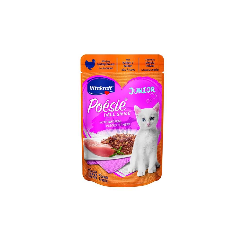 فيتاكرافت طعام رطب لصغار القطط مع صدور الديك الرومي بالصلصة 85 جم