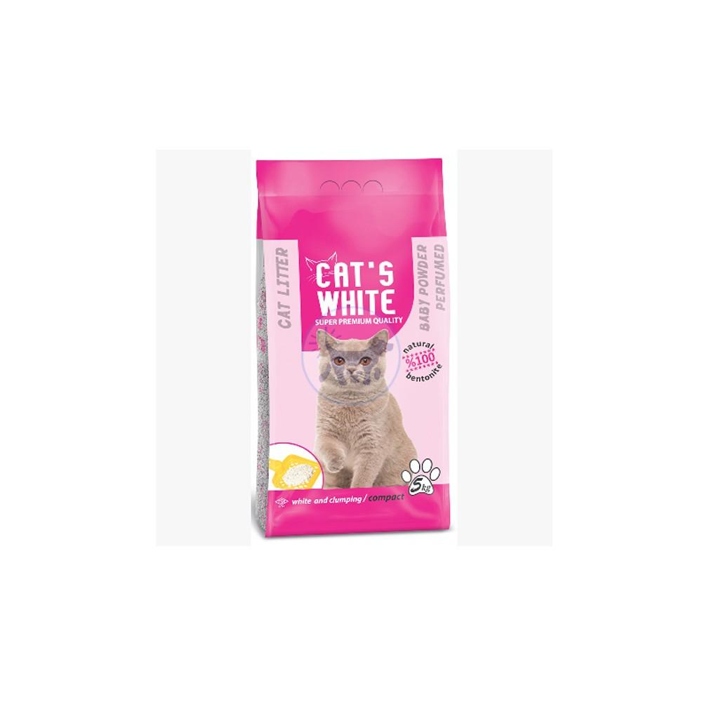 كاتس وايت - رمل قطط برائحة بودرة الأطفال 10 كجم