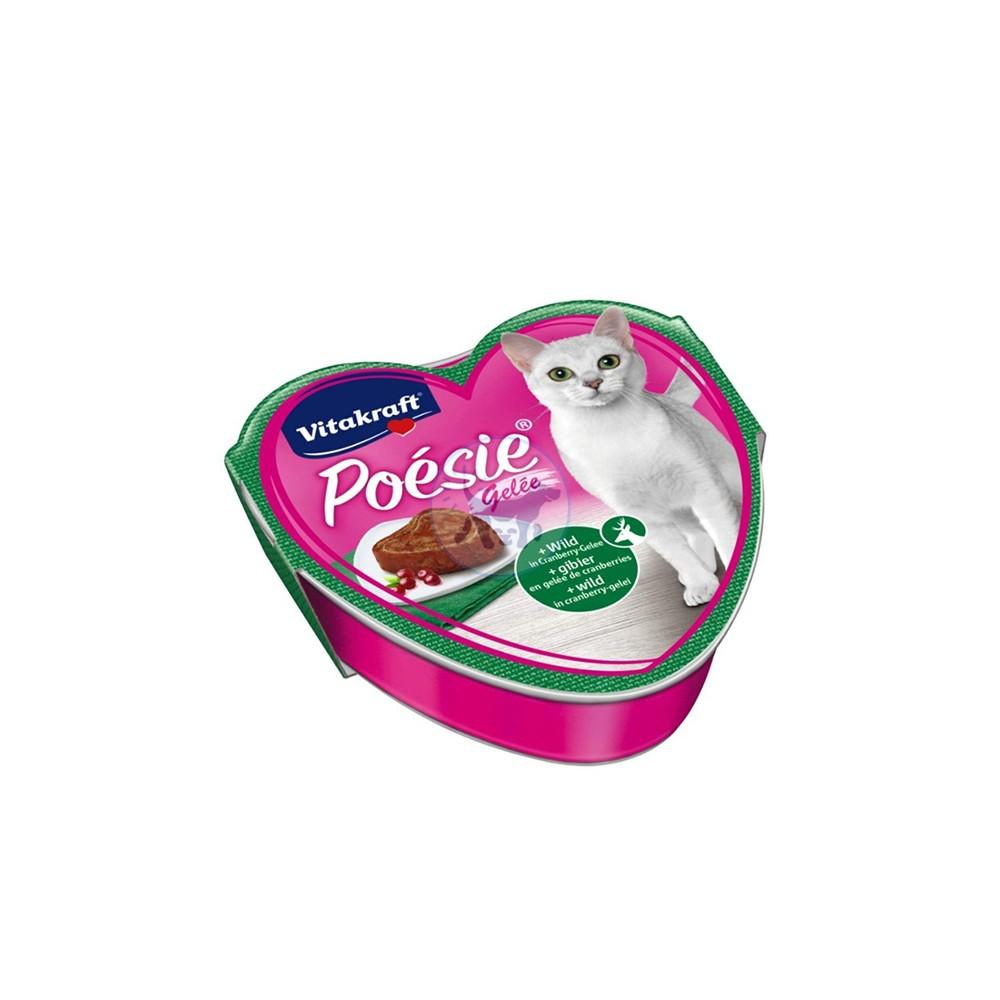 فيتاكرافت طعام قطط رطب مع لحوم الطرائد والتوت البري بالجيلي 85 جم