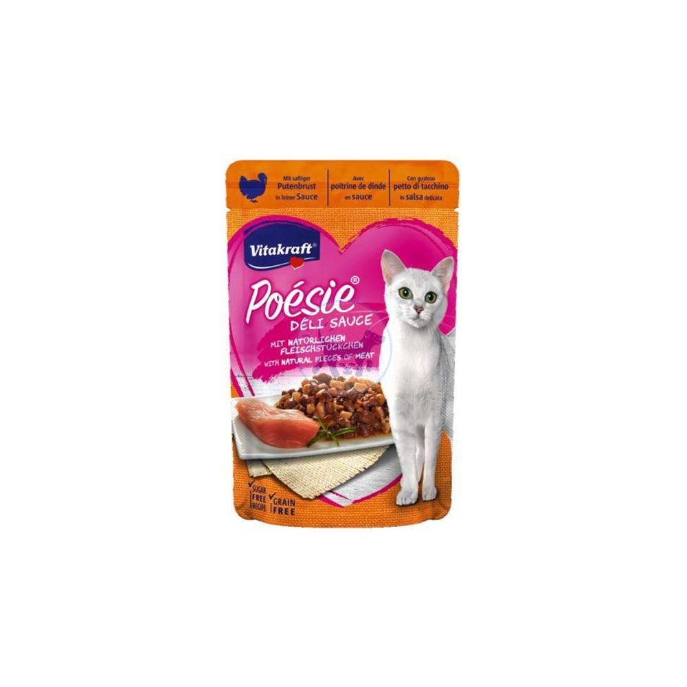 فيتاكرافت طعام قطط رطب مع صدور الديك الرومي بالصلصة 85 جم