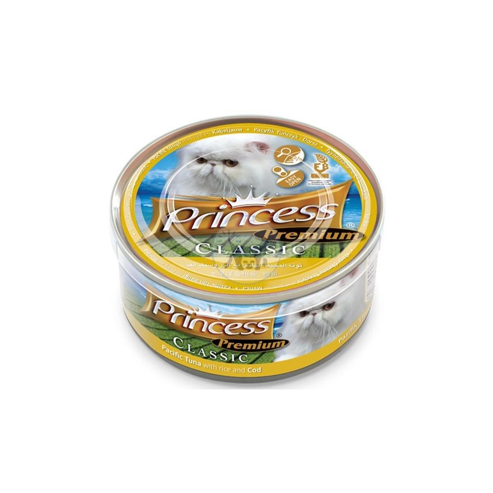 برنسيس طعام قطط رطب تونة باسيفيك مع الأرز و سمك القد  170 جرام