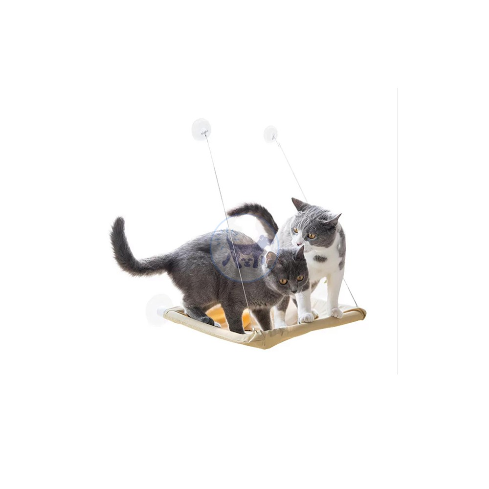 أرجوحة شبكية ذات مقعد نافذة للقطط يمكن تفكيكها وغسلها