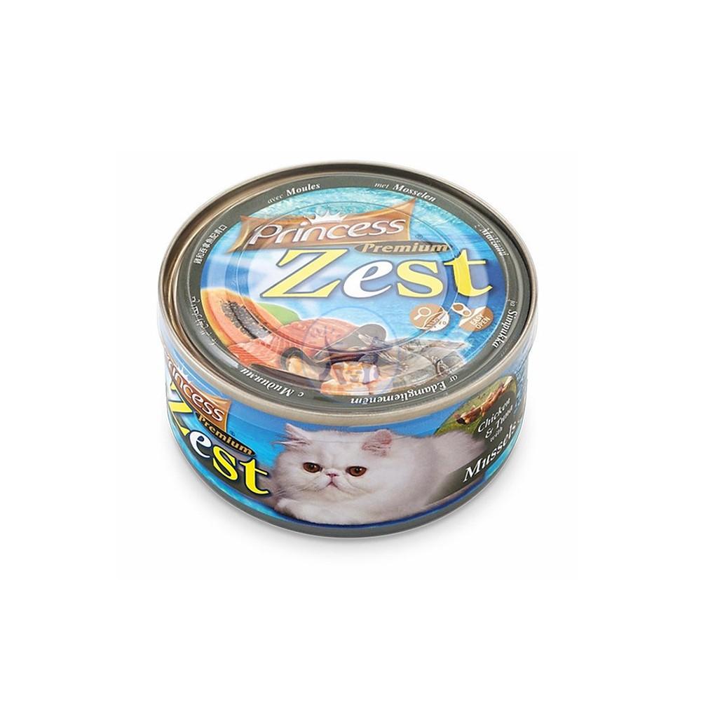 برنسيس طعام قطط رطب دجاج وتونة مع الأرز و بلح البحر 170 جرام
