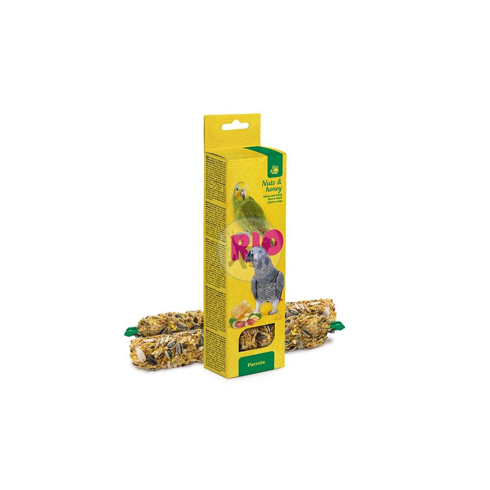 ريو - مكافأة العصي مع المكسرات والعسل للبغاوات - 2× 90 جم