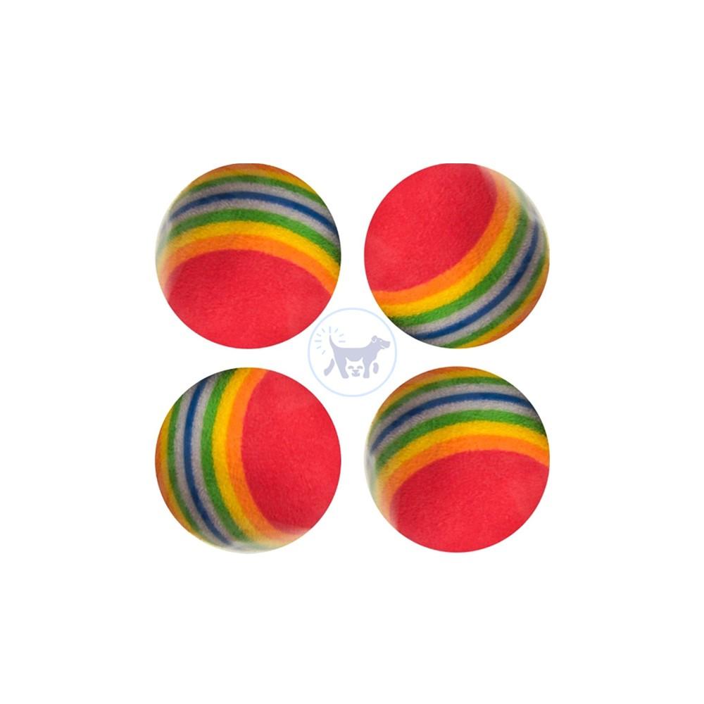 لعبة قطط - كرة مطاطية × 4
