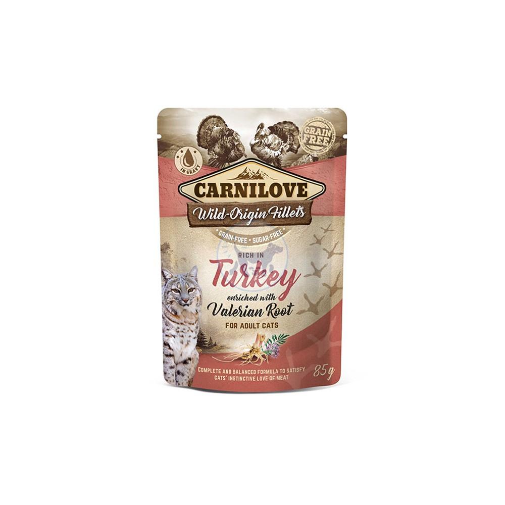 كارنيلوف طعام قطط رطب مع الديك الرومي والناردين 85 جم