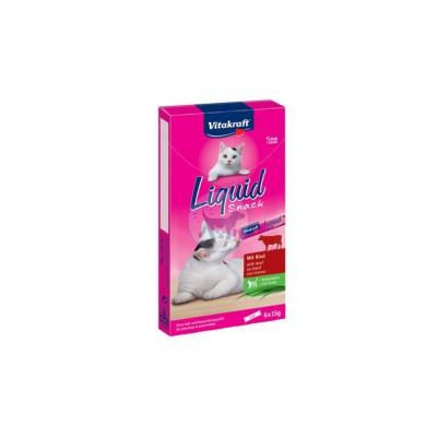 فيتاكرافت سناك سائل للقطط مع لحم البقر والأنولين 6 × 15 جم