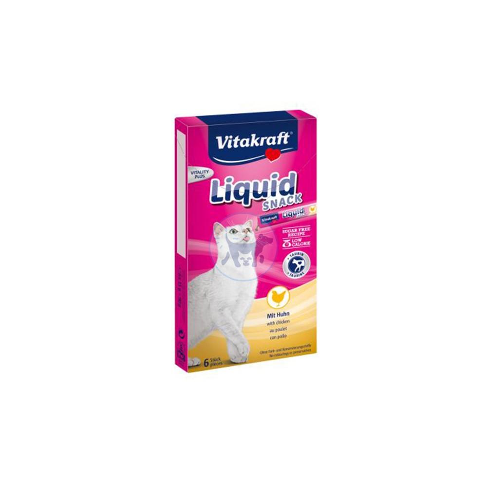 فيتاكرافت سناك سائل للقطط مع الدجاج والتورين 6 × 15 جم