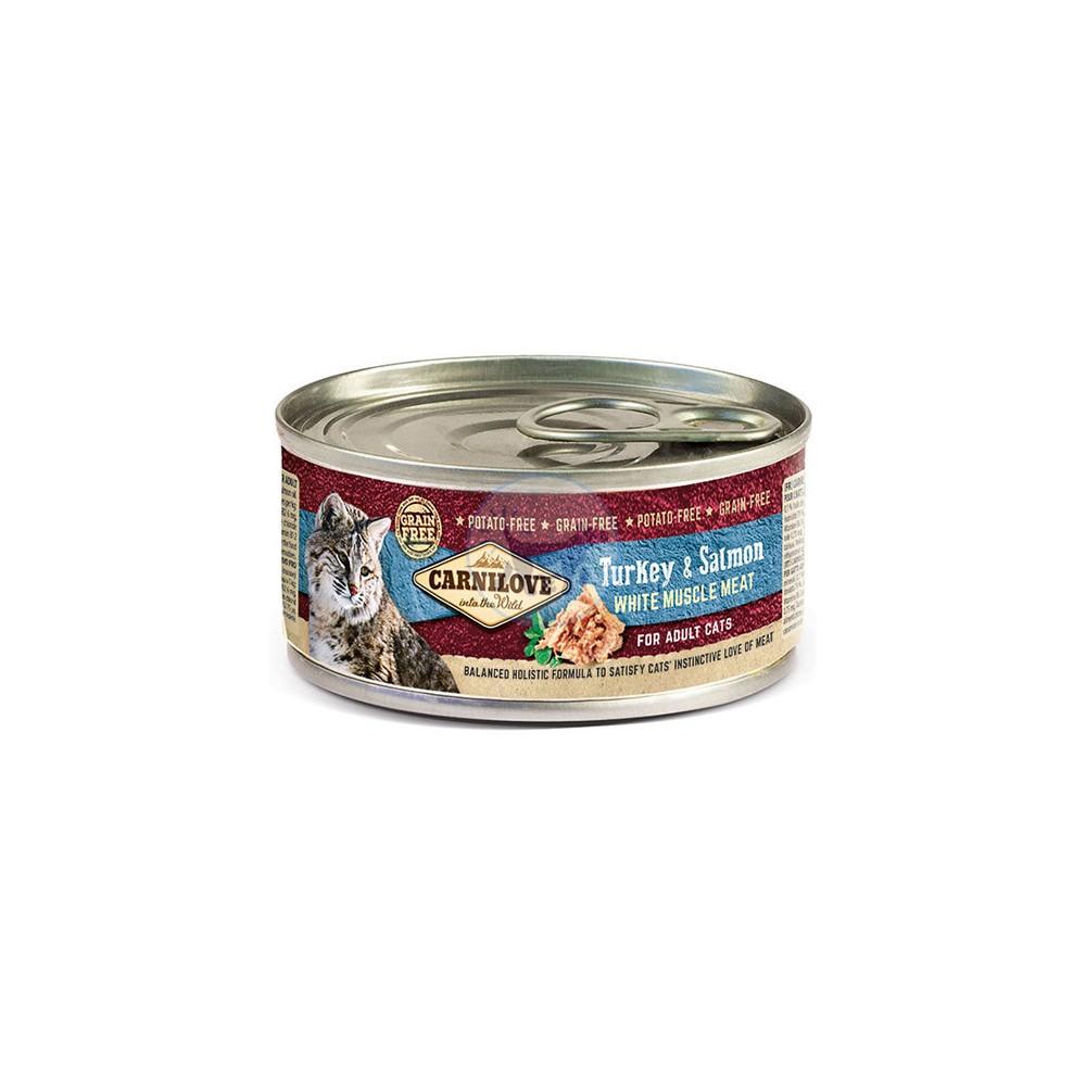 كارنيلوف طعام قطط رطب مع الديك الرومي والسلمون 100 جم