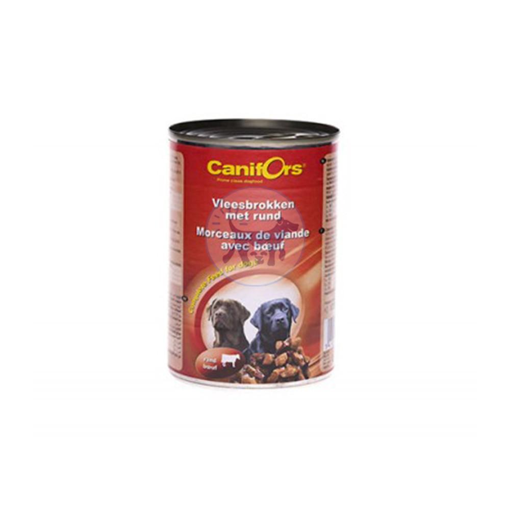 كانيفورس معلبات طعام الكلاب قطع اللحم مع لحم البقر 410غ