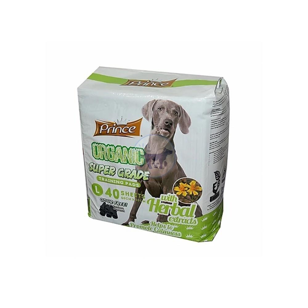 برنسيس مفارش لتدريب الكلاب برائحة الأعشاب 60 × 90 سم - 40 مفرش