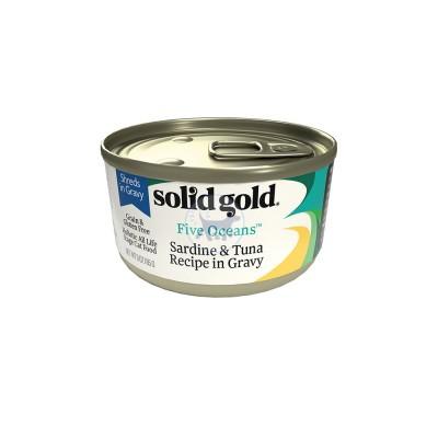سوليد جولد - طعام قطط رطب مع التونا والسردين بالمرق 170 جم