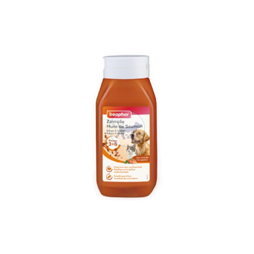 بيفار زيت السلمون مكمل غذائي طبيعي لذيذ مناسب للكلاب والقطط 430 مل