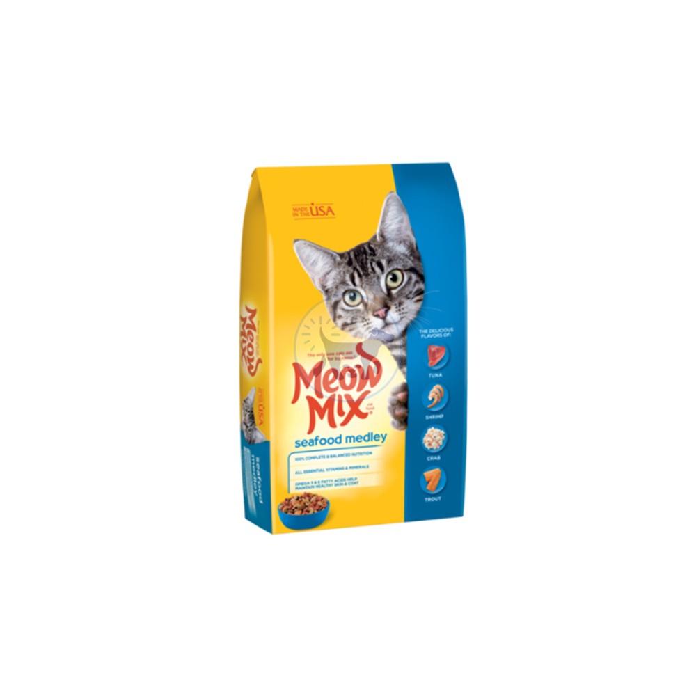 ميو ميكس طعام جاف بنكهة المأكولات البحرية للقطط