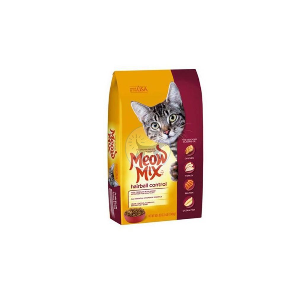 ميو ميكس طعام جاف للتحكم بكرات الشعر لدى القطط