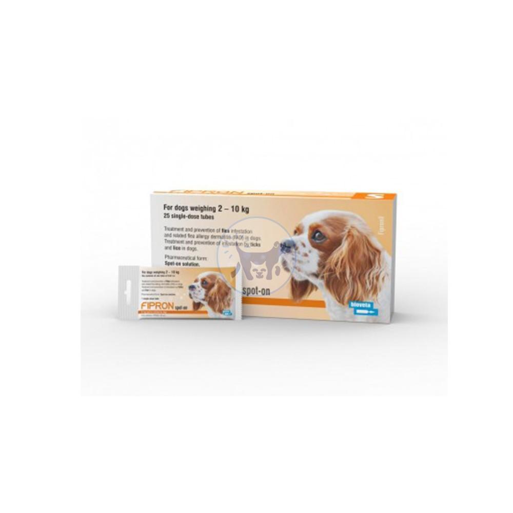 محلول موضعي (سليوشن ) للكلاب الصغيرة من وزن 2- 10 كغ مضاد للطفيليات ( الحشرات والبراغيث )
