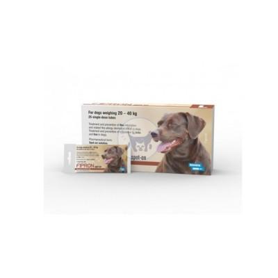 محلول موضعي (سليوشن ) للكلاب الكبيرة من وزن 20- 40 كغ مضاد للطفيليات ( الحشرات والبراغيث )