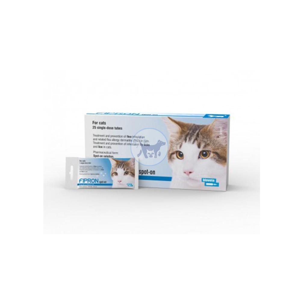 محلول موضعي (سليوشن ) مضاد للطفيليات الحشرات والبراغيث عند القطط 50 ملغ