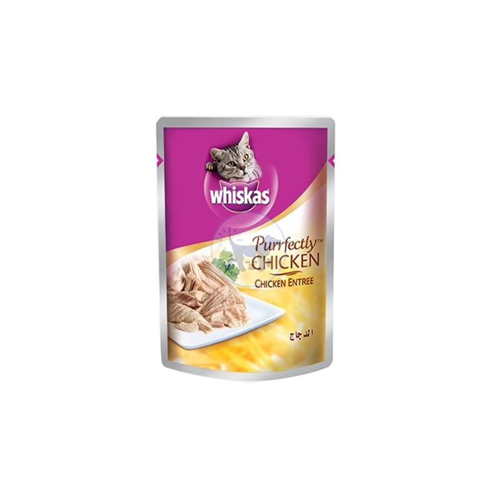 ويسكاس -طعام قطط رطب  بيرفيكتلي مع الدجاج بالمرق 85 جم