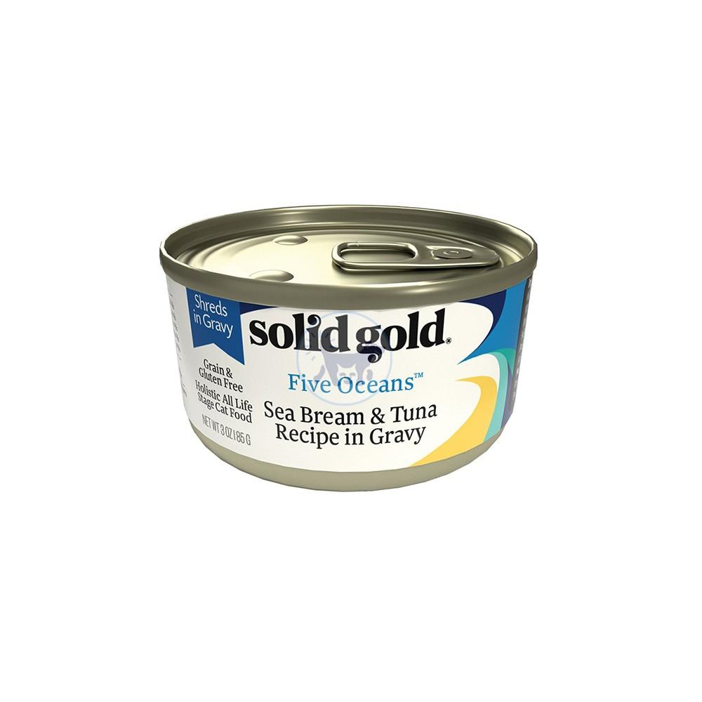 سوليد جولد - طعام قطط رطب مع سي بريم  والتونا  بالمرق  170 جم